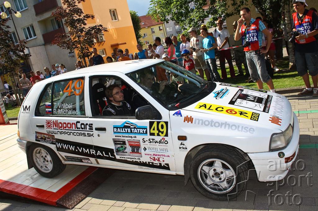 Rallye Tatry 2012 cieľová rampa